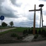 nowy krzyż sołectwa Wiśniew Kolonia
